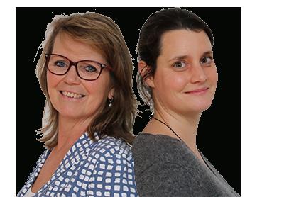 Ankie Schenning en Resnke Leenders