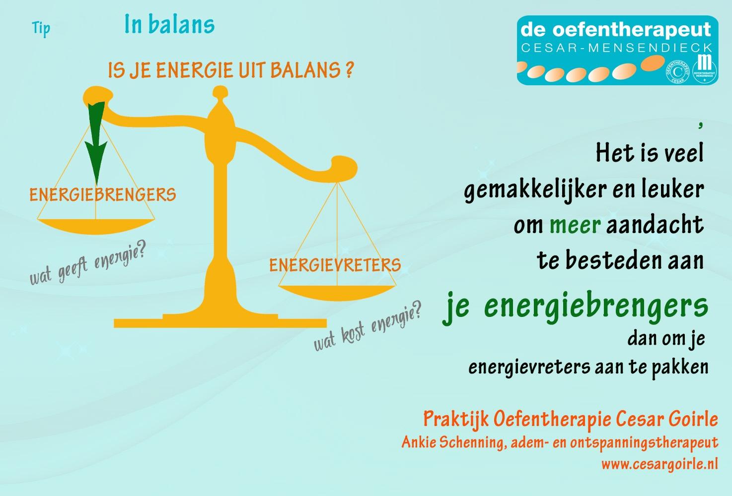Hoe herstel je je energie-balans?